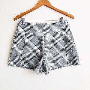 NWOT ZARA Trafaluc houndstooth high-waisted shorts